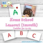 Home School Lesson1 Toddler 1y-2y